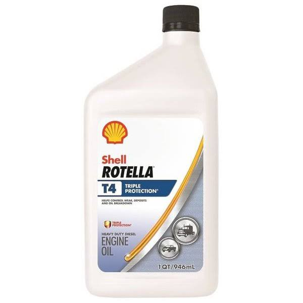Shell Rotella T4 Triple Protection Motor Oil - 1qt