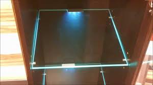 led lights edge lit glass cabinet shelf backlighting how to