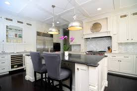 Open Plan Soft White Cabinets Contrasting Dark Floors Contemporary Kitchen