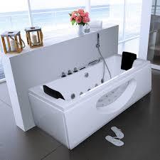 luxus whirlpool badewanne samurai profi weiss mit 26 düsen led heizung ozon glas für bad