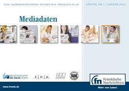 Lutz Kã Chenzeile Mediadaten Fränkische Nachrichten