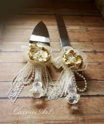 Rustic Wedding Cake Server And Knife Set