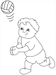 My Friend Play Volleyball Coloring Page