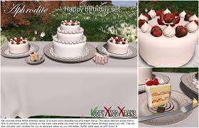 "Aphrodite ""Happy birthday"" white chocolate cake set Includes party candles table and Happy bday white choco cake set"