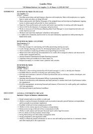 Download Business Banker Resume Sample As Image File