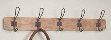 Vintage Twisted Wire Coat Hooks