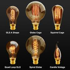 b22 bayonet filament vintage edison style squirrel cage l light