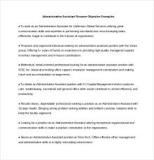 Administrative Assistant Resume Objective Examples Word Format
