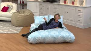 Cordaroy Bean Bag Chair Bed by Cordaroy U0027s Full Size Convertible Bean Bag Chair By Lori Greiner