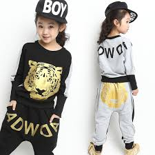 Girls Clothing Set 2017 New Fall Fashion Brand Children Sport Suit Pullover Sweatshirts Harem Pants Kids Girl Hip Hop In Sets From