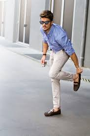 Summer Street Style Shirt Pant With Loafer In Casual Look