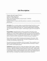 100 Truck Driver Job Description For Resume Uber For Amazing Duties