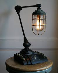 via Vtg Antique Industrial Steampunk Desk Lamp Upcycled Machine