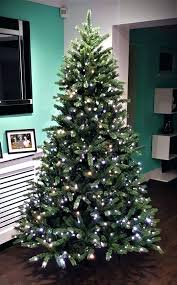 9 Ft White Christmas Tree The Ultra Fir Lit With Warm Colour Change
