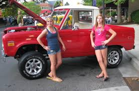 100 Girls On Trucks CASSIE And TAYLOR And A BRONCOby American Cars American