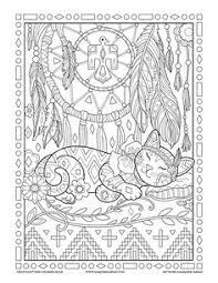 Dream Catcher Creative Kittens Coloring Book By Marjorie Sarnat Cat ColorsAdult