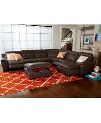 Macys Sofa Bed julius leather power reclining sectional sofa collection
