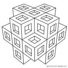 Advanced Geometric Coloring Pages 14 Easy