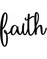 Faith Sign Metal Home Rustic Word Art Wall Signs
