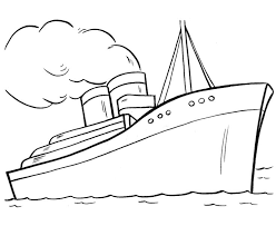 Titanic Coloring Pages Images