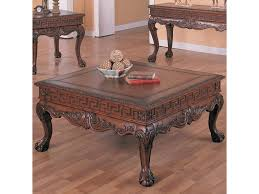 Traditional Dark Brown Norcastle Sofa Table by Coaster Wilshire Traditional Square Cocktail Table Del Sol