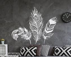 Feather Wall Decal Decor Feathers Vinyl Forest