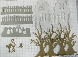 Halloween Graveyard Fence Ideas by Die Cutting Paper Spooky Halloween House Sizzix Blog The