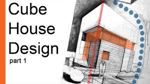 100 Cube House Design Drawing Tutorial ARCHstudentcom