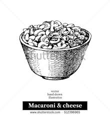 Macaroni And Cheese clipart black and white 5