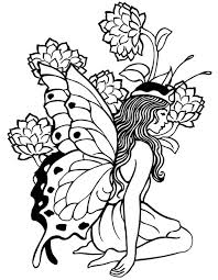 Pix For Printable Coloring Pages Adults Fairies