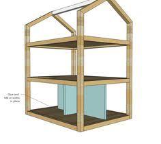 handmade wooden dollhouse by saranaclakewoodworks on etsy 279 00