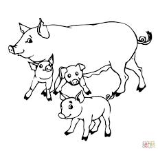 Dibujo De Mamá Cerdo Con Sus Cerditos Para Colorear Dibujos Para