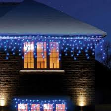 720 blue led snowing icicle lights