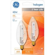 shop ge 2 pack 40 watt dimmable bright white halogen decorative