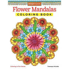 Flower Mandalas Adult Coloring Book