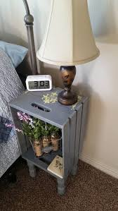 Captivating Wooden Crate Nightstand With Best 10 Ideas On Pinterest Diy