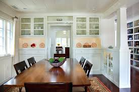 Built In Dining Room Cabinets Gorgeous Glass Curio Decorating For Living Traditional