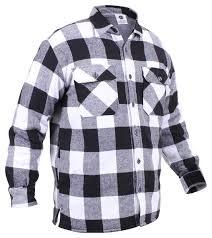 amazon com rothco buffalo plaid sherpa lined jacket sports