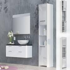 vicco badschrank kiko weiß hochglanz badezimmerschrank hochschrank badregal