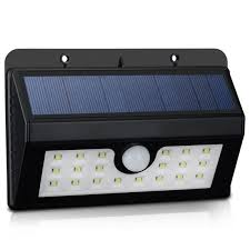 wireless solar powered 20 led waterproof pir motion sensor outdoor