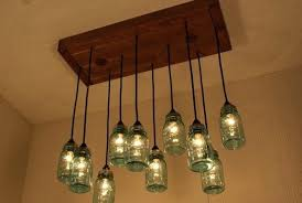 Homemade Chandelier Mason Jar Rustic Chandeliers