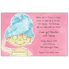 Pampered Pixie Spa Birthday Invitations