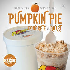 Storing Pumpkin Pie by Number One Seasonal Treat Pumpkin Pie Concrete Arrives At Andy U0027s