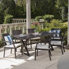 Amazon.com: Alana Outdoor Dining Set | 7 Piece | Brown ... Alinum Alloy Outdoor Portable Camping Pnic Bbq Folding Table Chair Stool Set Cast Cats002 Rectangular Temper Glass Buy Tableoutdoor Tablealinum Product On Alibacom 235 Square Metal With 2 Black Slat Stack Chairs Table Set From Chairs Carousell Best Choice Products Patio Bistro W Attached Ice Bucket Copper Finish Chelsea Oval Ding Of 7 Details About Largo 5 Piece Us 3544 35 Offoutdoor Foldable Fishing 4 Glenn Teak Wood Extendable And Bk418 420 Cafe And Restaurant Chairrestaurant