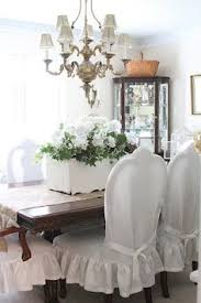 Shabby Chic Dining Room Chair Covers by Custom Slipcovers By Shelley Shabby Chic Ruffled Slipcovers