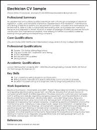 This Is Electrician Resume Sample Examples