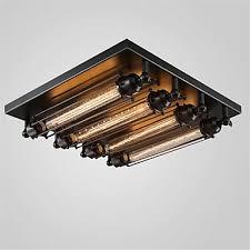 retro stil loft industrielle deckenleuchte edison esszimmer wohnzimmer lichter led vintage deckenleuchte leuchte plafonnier