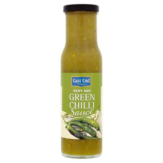 East End Very Hot Green Chilli Sauce - 260g
