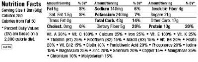 And In Case You Were Wondering Here Are The Nutritional For A Regular Sized Cool Mint Chocolate Bar