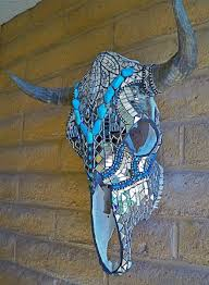 Thinset For Glass Mosaic Tile by Custom Made Stained Glass Mosaic Skulls Decorated Longhorn Skull